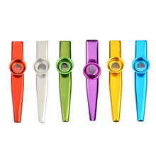 Kazoo Wind Instruments Gold Plated Matellic Aluminium Musical Instruments C Tone Kazoo 6 Color Style Support Wholesale