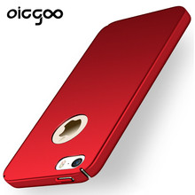 Oicgoo Luxury Hard Back Plastic Matte Cases For Apple iPhone 6 Red 5 SE Case PC Full Cover For iphone 7 6 6s plus Cases