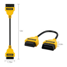 ELM327 OBD2 16Pin Extension Cable 30cm Extension Cable 16 Pin ELM327 OBD II OBD2 Extension Cable Connector(YELLOW)