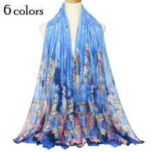 2018 soft women flower scarf viscose scarves shawls muslim print hijab fancy color fashion muffler lovely shawl woman pashmina(China)