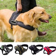 HOT SALE Specialized Large Dog Harness Vest Adjustable Sport Working Tanning Leash for Dog Nylon Dog Harness Leash(China)