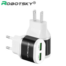 Phone Charger Quick Fast Universal USB Charge Portable EU US Plug Travel Wall Charger Adapter For Smart Phone Iphone iPad Tablet