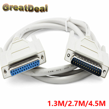 25Pin DB25 Parallel Male to Female LPT Printer DB25 Cable 1.3M computer cable Printerextending Cable 25 Pin 2.7M 4.5M HY1563