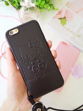 High quality Pu Leather cute Hello kitty minnie mickey case for Apple iphone 6 6s plus Lovers TPU phone case back cover