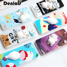 Funny 3D Soft Silicone Dolphin Cat Animal Phone Cases For iPhone 6 6s 6plus 7 7Plus Cute Cartoon Coque Lovely Kitty Phone Cover