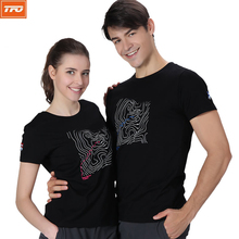 TFO Outdoor t shirt men women quick dry t shirts shirt hiking trekking climbing mountain Gym fitness running breathable printing