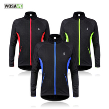 WOSAWE Cycling Jacket Windproof Waterproof Bike Bicycle Clothes MTB Bike Jersey Winter Thermal Fleece Sports Coat BC216(China)