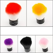 Top Colorful Nail Tools Brush For Acrylic & UV Gel Nail Art Dust Brush Cleaner Tools For UV Gel Nail Art Cleaner Multi-Color(China)