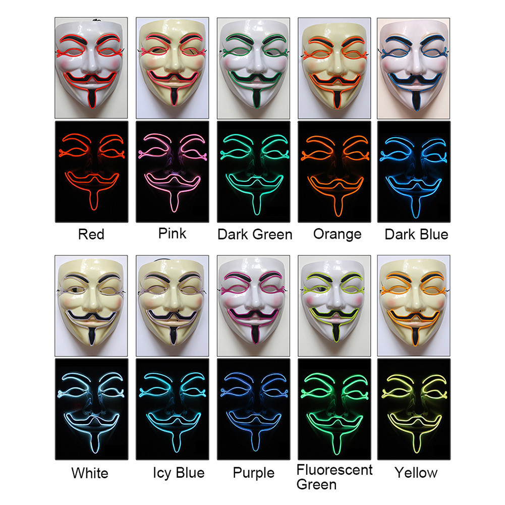 Anonymous LED Halloween Mask