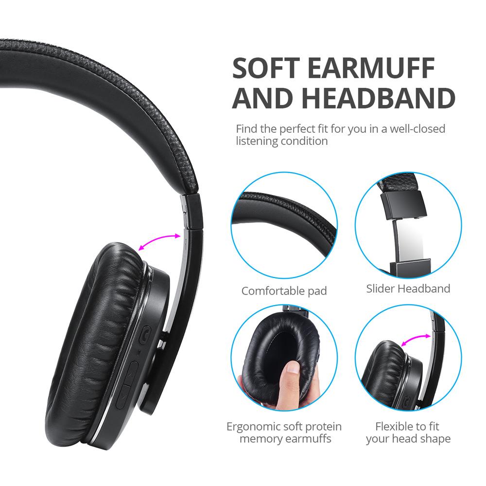 August EP750 ANC Bluetooth Headphones
