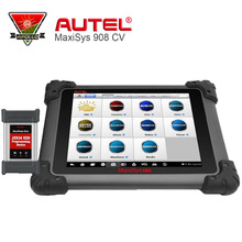 2017 Newest Autel Maxisys 908 CV Autel Heavy Duty Diagnostic Tools MaxiSys CV Full System ECU Coding One Yaers Free Update(China)