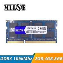 MLLSE 2gb 4gb ddr3 1066 pc3-8500 sodimm laptop, ddr3 1066Mhz 4gb pc3 8500 so-dimm notebook, memory ram ddr3 1066 mhz 4gb sdram(China)