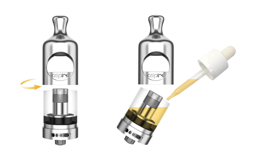 Electronic Cigarette Aspire Nautilus 2 Tank Mouth to Lung MTL Vape Vaporizer 2ML 510 Atomizer Compatible with Zelos Mod and NX30 6