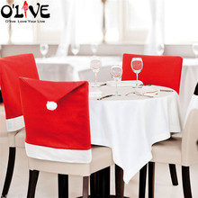 Christmas Chair Covers New Year Decorations Santa Claus Home Party Decor Xmas Ornaments Hats Snowman Merry Christmas Sale