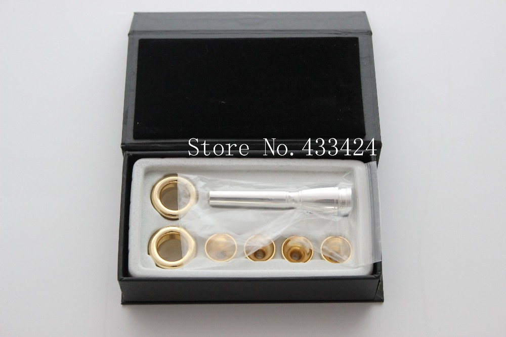 Multifunction trumpet mouthpiece 6 PCS per set 2C 3C 2b 3b for bach baja style, multi-purpose trumpets blow mouth adapter Bb<br><br>Aliexpress