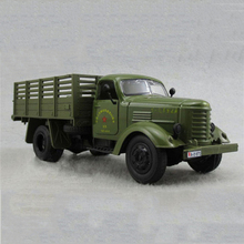 1:32 Scale Jiefang Military Diecast Truck Model With Light Sound And Army Car Green Truck Miliary Model Children Toy(China)