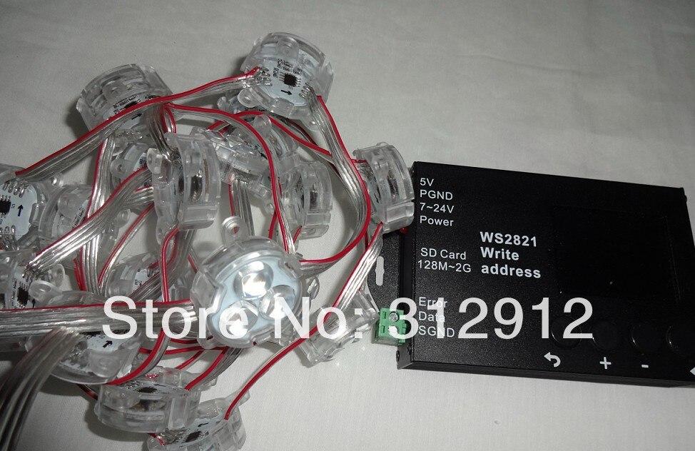20pcs DC12 DMX512 WS2821A pixel module+WS2821 DMX address writer<br>
