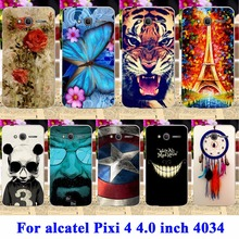Flexible Soft TPU Silicon Cases For alcatel OneTouch Pixi 4 4.0 inch OT4034 dual-SIM 4034D 4034E 4034F Housing Bags Skin Shell