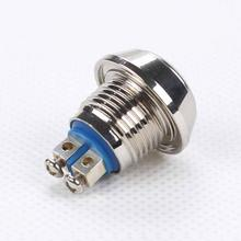 Spherical metal button switch 12mm Screw body waterproof Push Button Switch Automatic Reset(China)