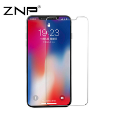 ZNP 0.3MM 9H Tempered Glass For iPhone X 8 7 6 6s Plus 10 5 5S 4 4s Glass Screen Protector Toughened Phone Glass Cover Film(China)