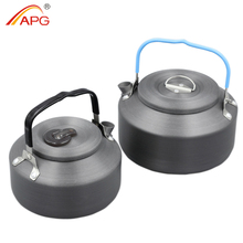 APG ultralight 1400ml camping kettle or 800ml outdoor camping hiking cookware(China)