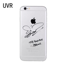 UVR Brand Taeyeon signature Transparent soft case Phone Case for iPhone X 5s 6s 7 8 Plus cover for samsung S6 S7 S8 edge Note 5