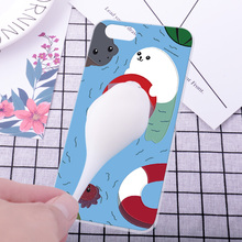 For HTC Desire 10 Pro Phone Case Squishy Finger Pinch 3D Cute Cat Seal Silicone Phone Cover Shell For HTC U ultra/Ocean Note