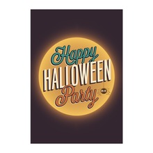 Outdoor And Indoor Flags For Happy Halloween Party The Full Moon Designed With Double Sided Printing Decorative Garden Banner