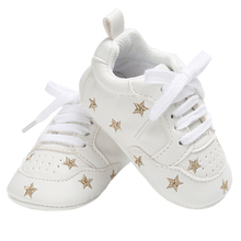 Baby Casual Shoes for Boys Girls Flats Little Kid Sneakers Rubber Sole Newborn Gear Infant Tennis Toddler PU Leather Moccasins