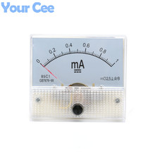 1 pc New 85c1 Current Monitoring 0~1mA Analog DC AMP Panel Meter Class 2.5 Pointer Ampere Gauge