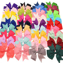 20pcs  Boutique Grosgrain Ribbon Bows Handmade Bowknot Fashon Hair Accessories No Clip DIY Accessories for hair band