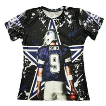 Cool! Men's 3D Printed T-Shirts Dallas Tony Romo Short Sleeve O-Neck T Shirts Men Tops Tees Plus Size 6XL Tshirts Homme(Hong Kong)