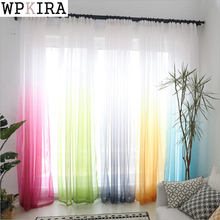 Curtain Fashion Tulle Curtain Window Screen Blinds Sheer Voile Gauze Curtain Cafe Kitchen Curtain Living Room Balcony 185&20