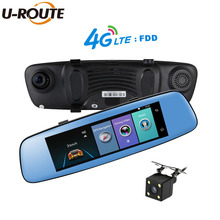 "8"" Wifi Car DVR Camera Android 5.1 GPS Navigation ADAS Remote Monitor Rear view mirror Dashcam Dual lens  4G Sim card HD 1080P"