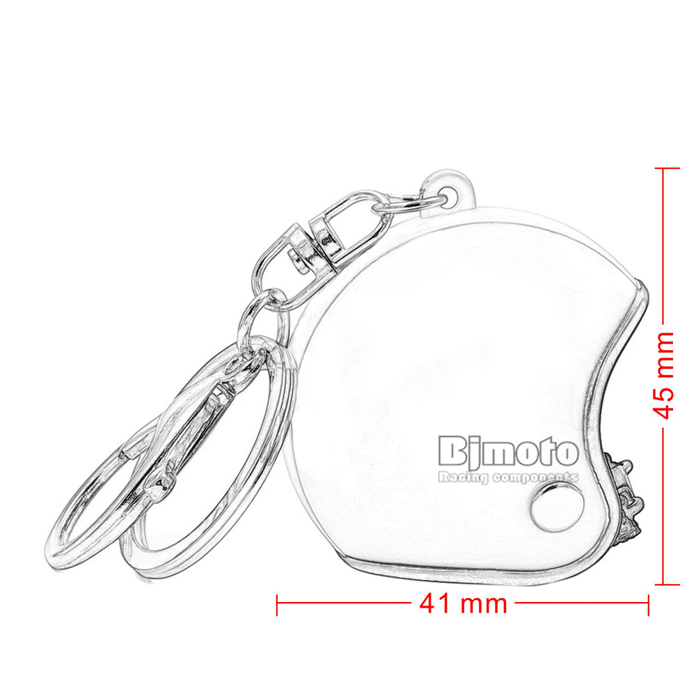 Motorcycle Helmet Key Chain Plastic Casque Keychain Men and Women Key Ring Trendy Key Ring For Car Purse Bag Gift KC-A009 (1)