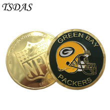 Gold Challenge Coins AFC North Series Football League Souvenir Coin, Green Bay Packers Metal Coin Best Gift(China)