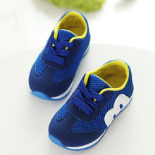 Autumn hot sale children's M shoes alphabet mesh casual running kids shoes sports non-slip fashion sneakers for girls boys 21-30