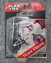 Amazing Only 7 USD Gray&Pink Finger Bmx toys bike with Diecast Nickel Alloy Stents Gift for chldren kids toys(China)