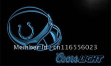 LD463- Indianapolis Colts Helmet Coors   LED Neon Light Sign     home decor  crafts