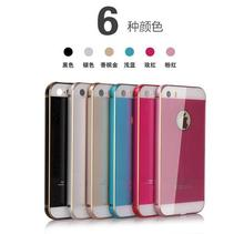 Ultra Thin Luxury Aluminum Metal Frame Case For Apple iphone 5S 5G Cell Phone Metal frame + plastic cover