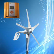 Mini Wind Turbine; 400W 24V Wind Generator, Combine with MPPT Wind Solar Hybrid Controller (400W Wind, 300W Solar), CE Approved(China)