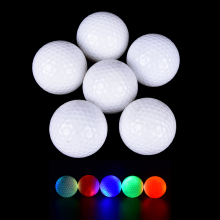 Hot Colorful Light-up Color Flashing Glowing LED Electronic Golf Ball For Night Golfing Gift