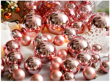3-10 cm Pink Rose Gold Pearl Christmas Ball for Christmas Decoration and Christmas Tree Ornaments(China)
