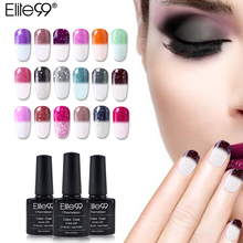 Elite99 New Arrival 10ml Snowy Thermal Chameleon Temperature Change Mood Color Gel Polish DIY Nail Art UV Gel Polish