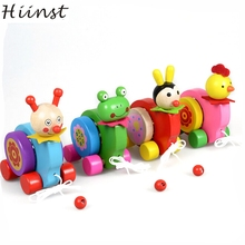 HIINST MallToy 2017 New Wooden Cartoon Animal Beats Drum Creative Educational Toy Game Car For Kids Drop Shipping Aug24