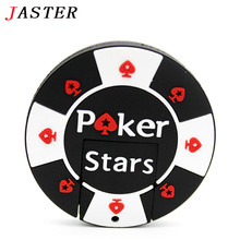 JASTER Fashion Chip fans rubber Poker Stars pokerstars USB flash drives 1GB 2GB 4GB 8GB 16GB 32GB memory pendriver Pen U disk