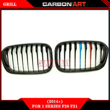 carbon front mesh grill for bmw 1 series 2015+ car stying M color f20 bumper kidney 118i 120i 125i 130i 128i(China)