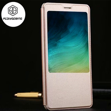 Luxury Classic Style Stand View Window Filp Phone Cover PU Leather Case Xiaomi Redmi Note4 Note4X Note4 Global Version
