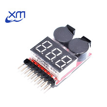 1-8S Lipo/Li-ion/Fe RC helicopter airplane boat etc Battery Voltage 2 IN1 Tester Low Voltage Buzzer Alarm I75(China)