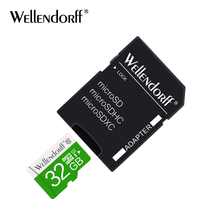 wellendorff micro sd card 4GB 8GB 16GB 32GB 64GB 128GB cartao de memoria flash TF memory card microsd with free adapter